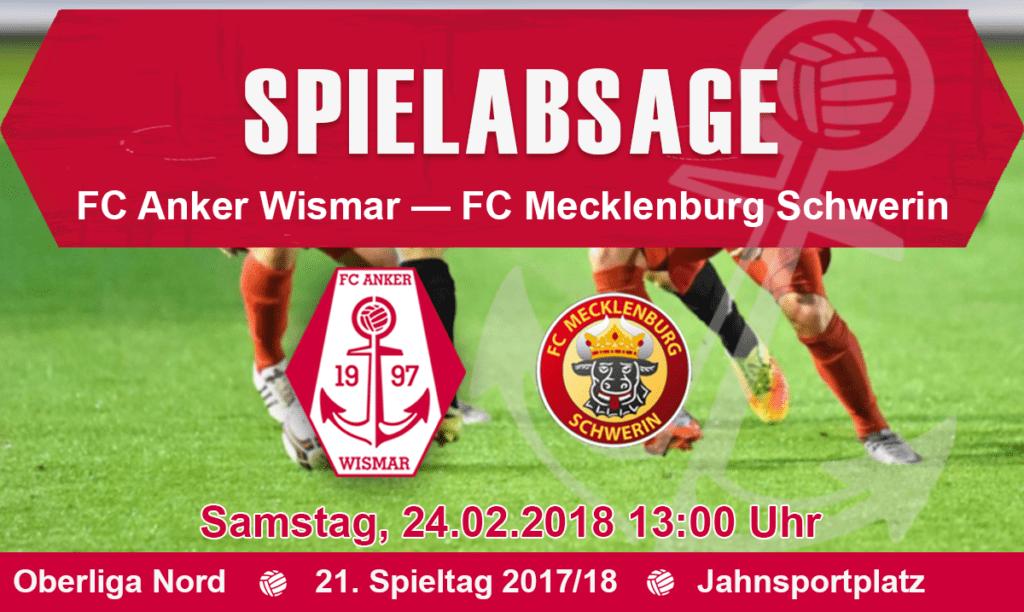 Spielabsage gegen Mecklenburg Schwerin