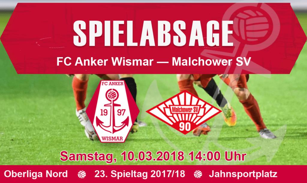 Heimspiel gegen den Malchower SV abgesagt